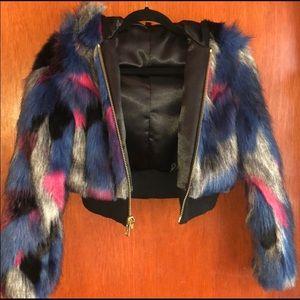 Vegan fur spirit hood coat.